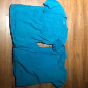 Cherokee scrubs teal color all size small.